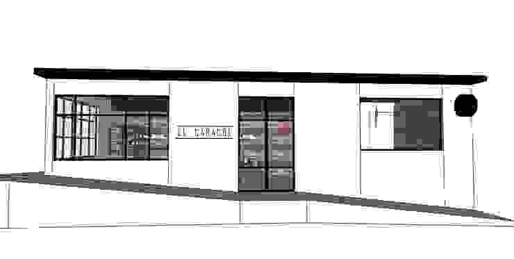Panadería El Caracol Espacios comerciales de estilo industrial de Taller 03 Industrial Hierro/Acero