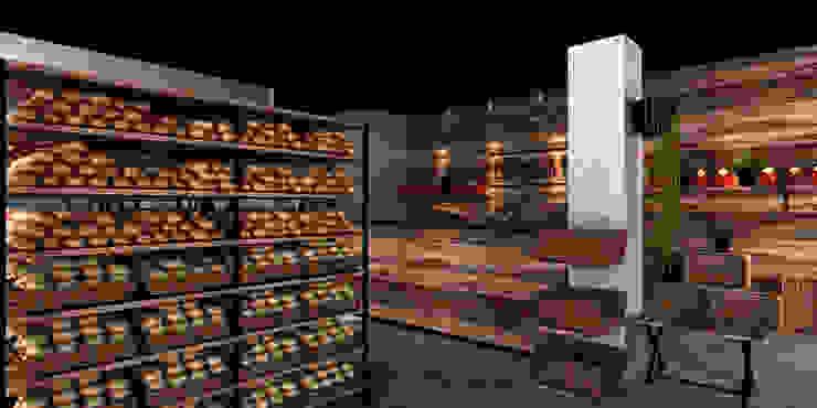 Panadería El Caracol Espacios comerciales de estilo industrial de Taller 03 Industrial Papel