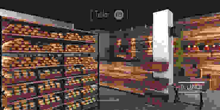 Panadería El Caracol Espacios comerciales de estilo industrial de Taller 03 Industrial Madera Acabado en madera