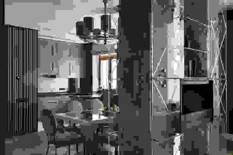 Квартира на Морском проспекте Санкт-Петербурга Кухня в стиле модерн от Студия дизайна интерьера 'Юдин и Новиков' Модерн