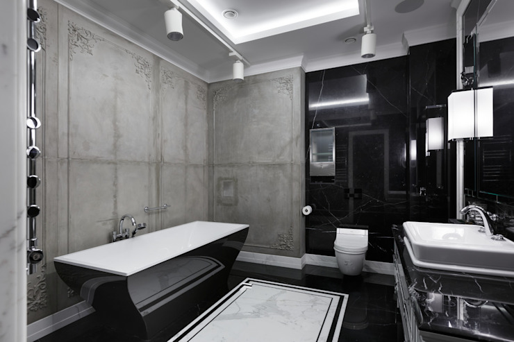 Квартира на Морском проспекте Санкт-Петербурга Moderne Badezimmer von Студия дизайна интерьера 'Юдин и Новиков' Modern