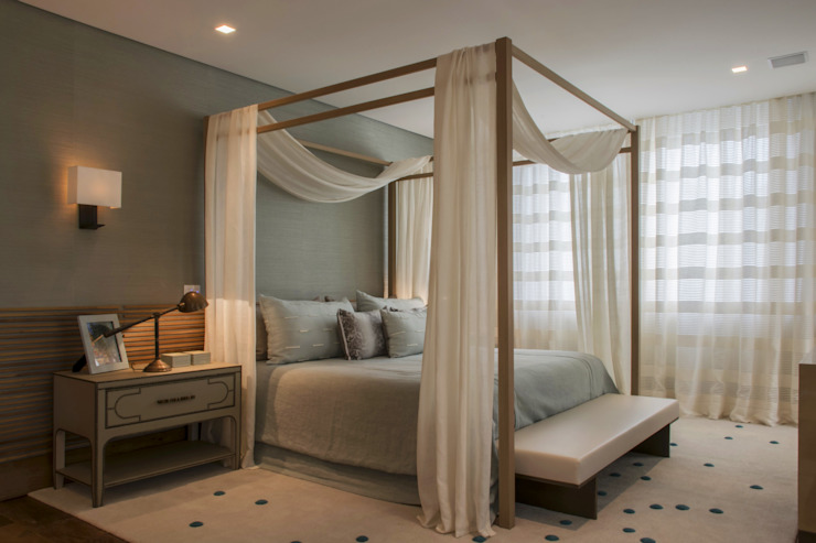 Denise Barretto Arquitetura Country style bedroom