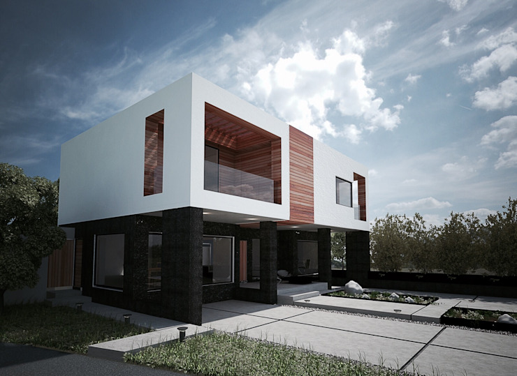 PARCELA // 65 Casas modernas de DOSA studio Moderno