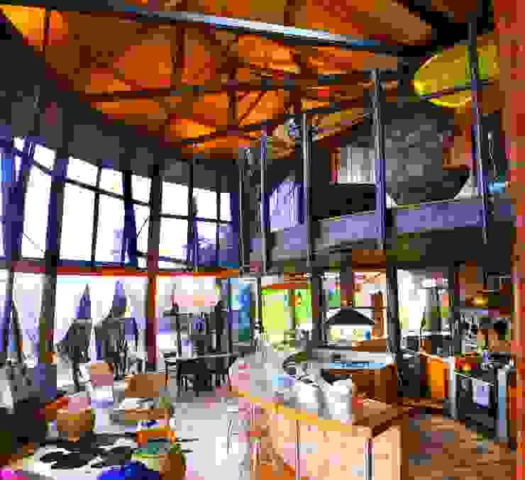 Residência Portal da Torre Salas de estar rústicas por Hérmanes Abreu Arquitetura Ltda Rústico