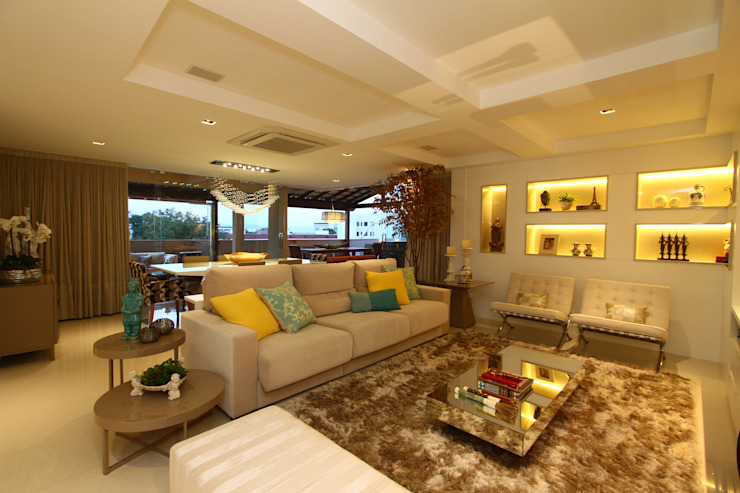 Salones de estilo moderno de Oleari Arquitetura e Interiores Moderno