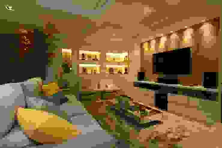 Salas / recibidores de estilo  por Oleari Arquitetura e Interiores