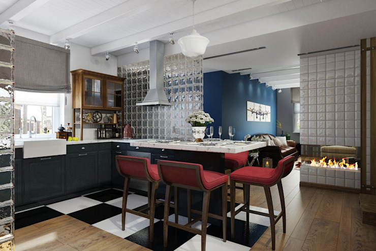СТИЛЬНЫЕ ПРИЧУДЫ Столовая комната в стиле лофт от Дизайн студия Алёны Чекалиной Лофт
