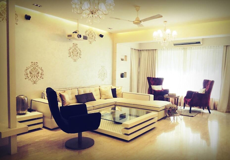 Sanghvi Residence Modern living room by SwitchOver Studio Modern