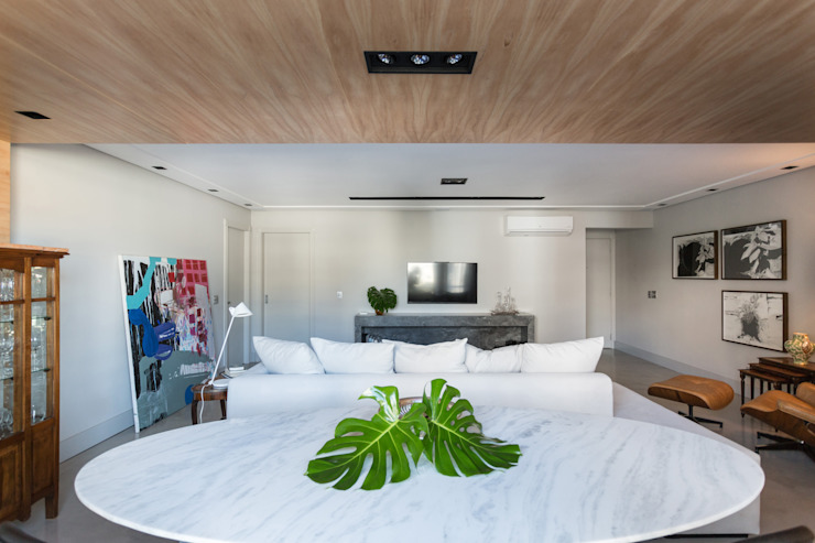 APARTAMENTO ABC Salas de estar minimalistas por AMBIDESTRO Minimalista