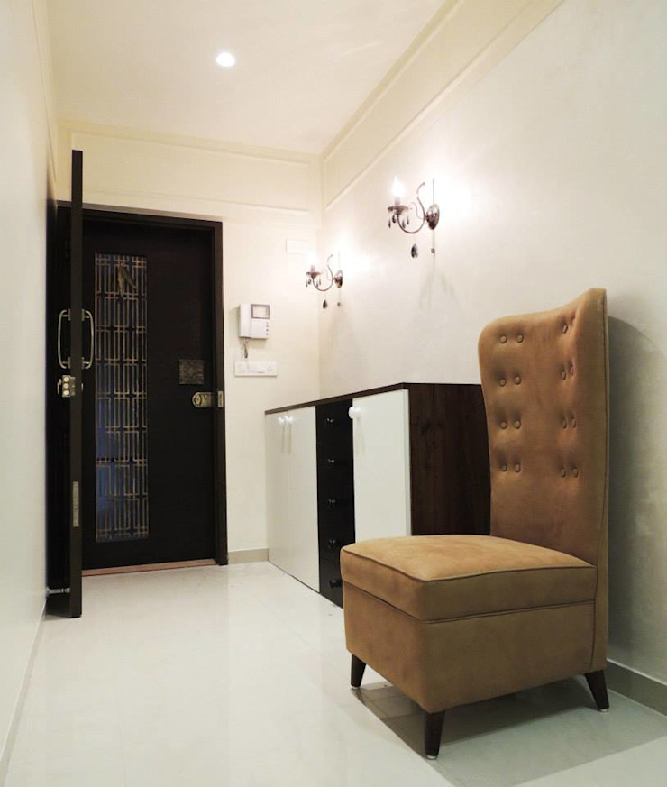 A project at Borivali Modern corridor, hallway & stairs by SwitchOver Studio Modern