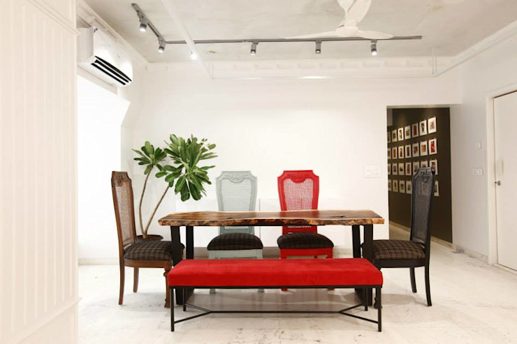 Khar Residence Modern dining room by SwitchOver Studio Modern