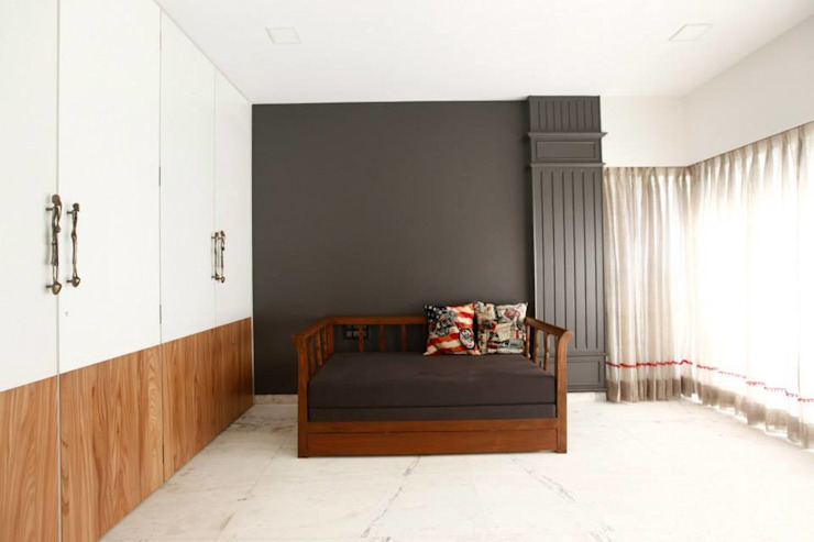 Khar Residence Modern style bedroom by SwitchOver Studio Modern