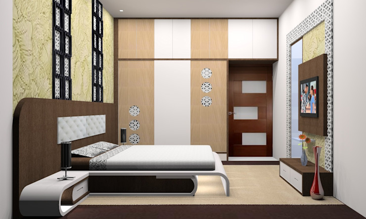 Bed Room Modern style bedroom by Vishvas Architects Modern Wood Wood effect