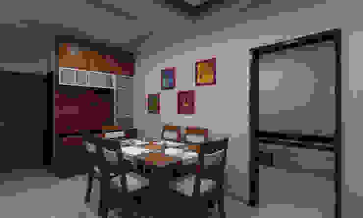 3BHK Interior Flat @Pune Modern dining room by SkyGreen Interior Modern