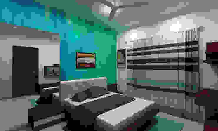 3BHK Interior Flat @Pune Modern style bedroom by SkyGreen Interior Modern