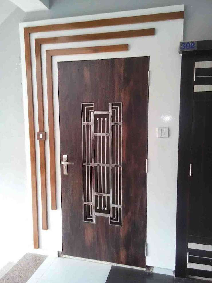 2BHK - Interior Flat @Ahmedabad Modern living room by SkyGreen Interior Modern