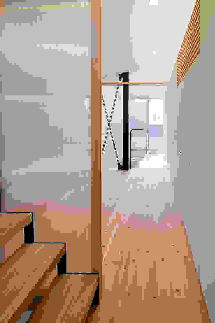 根來宏典建築研究所 ห้องนอน ไม้ White