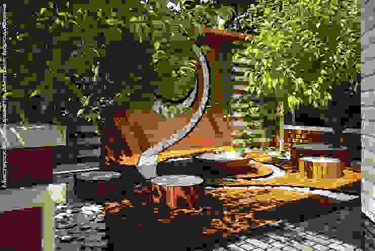 Minimalist style garden by Мастерская ландшафта Дмитрия Бородавкина Minimalist Wood Wood effect