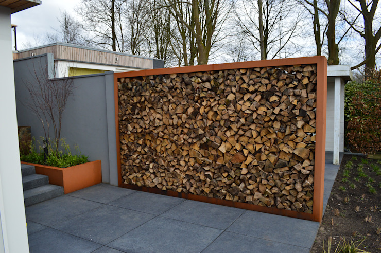 STROOM architecten Modern style gardens Natural Fibre Orange