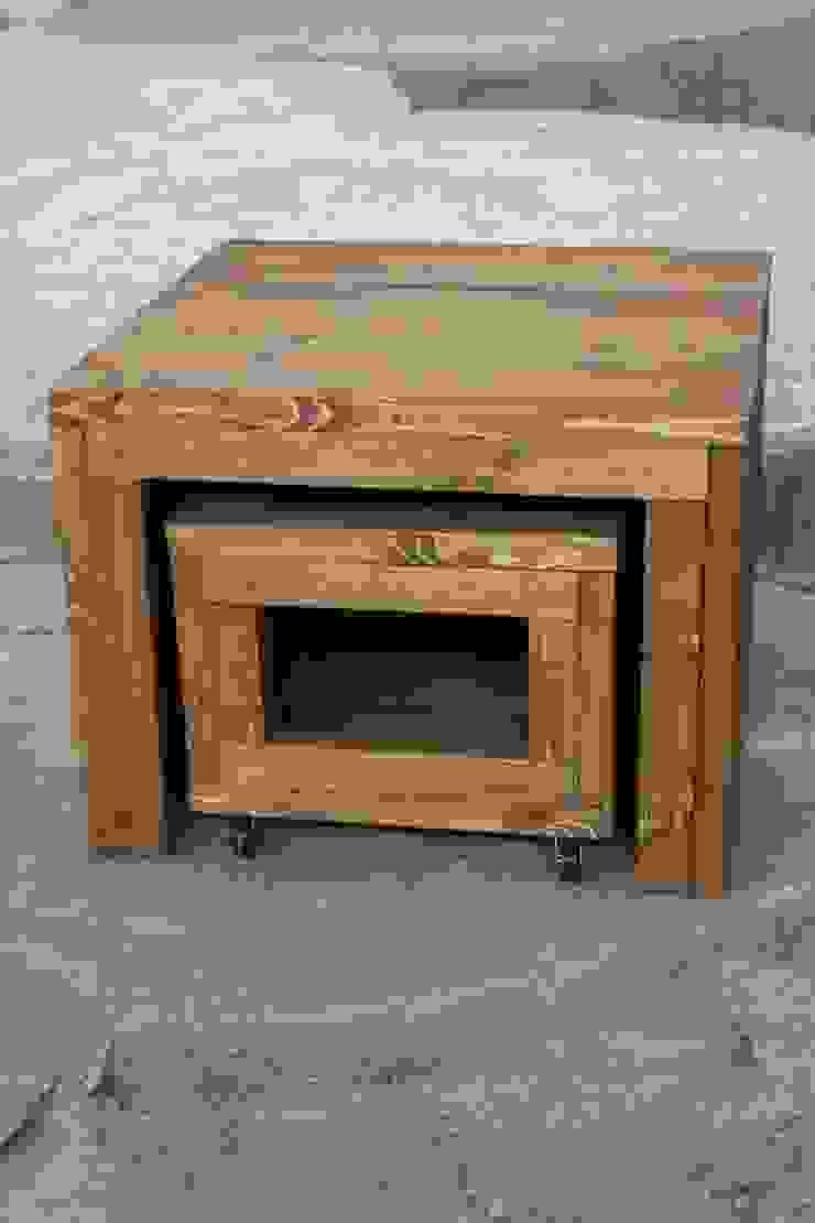 (Verrijdbare) salontafels van Ab Houtcreaties Industrieel Hout Hout