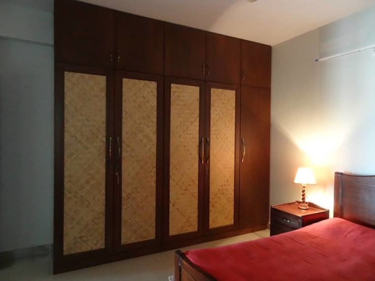 Apartment in NCC Urban Gachibowli. Modern style bedroom by Freelance Designer Modern