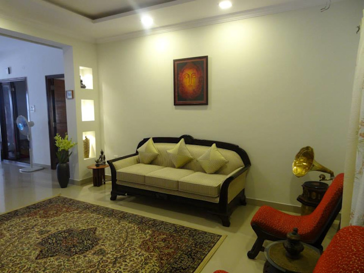 Apartment in NCC Urban Gachibowli. Modern living room by Freelance Designer Modern