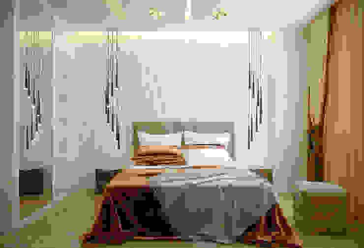 """Дизайн спальни в современном стиле в ЖК """"Солнечный"""" Спальня в стиле модерн от Студия интерьерного дизайна happy.design Модерн"""