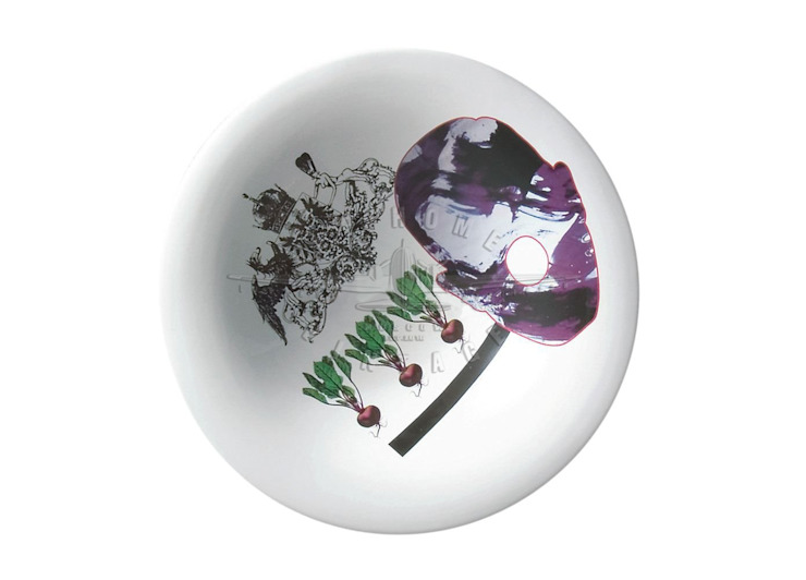 Блюдо декоративное HAIKUS Face от LeHome Interiors Лофт Керамика