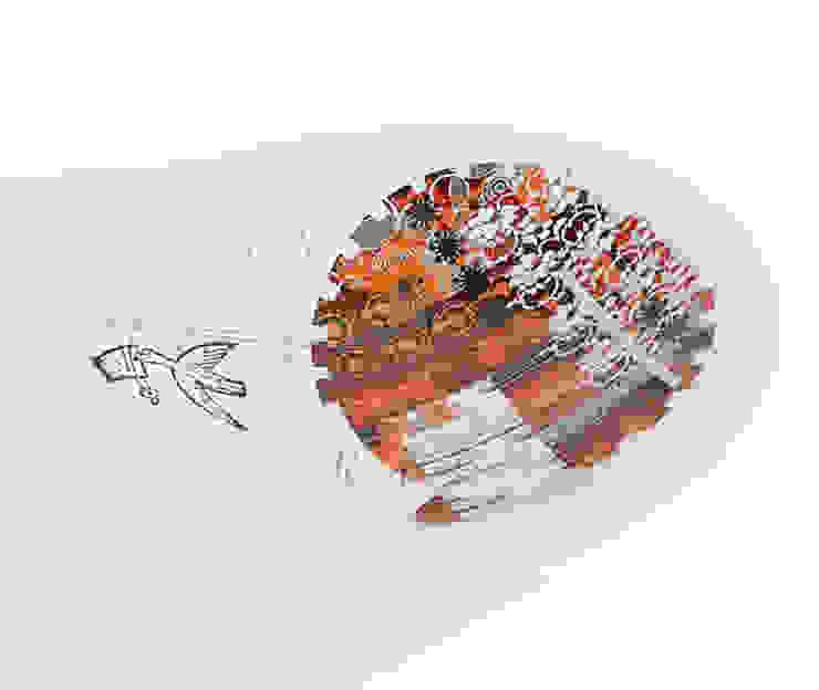 Блюдо декоративное HAIKUS Red от LeHome Interiors Лофт Керамика