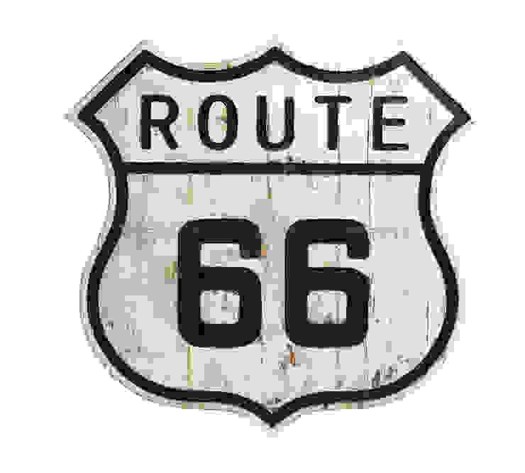 Дорожный знак декоративный Route 66 V772 от LeHome Interiors Лофт Дерево Эффект древесины