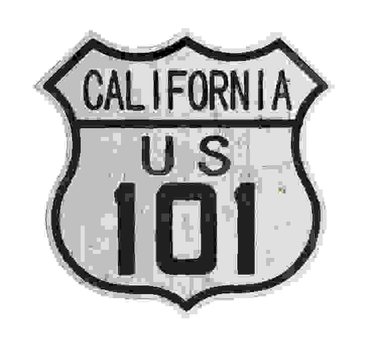 Дорожный знак декоративный California 101 V773 от LeHome Interiors Лофт Дерево Эффект древесины