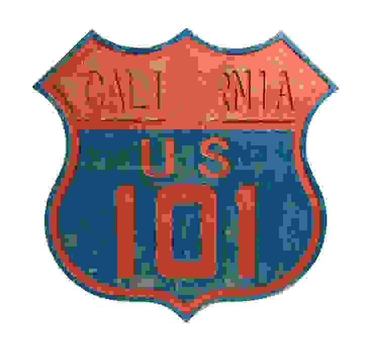 Дорожный знак декоративный California 101 V774 от LeHome Interiors Лофт Дерево Эффект древесины