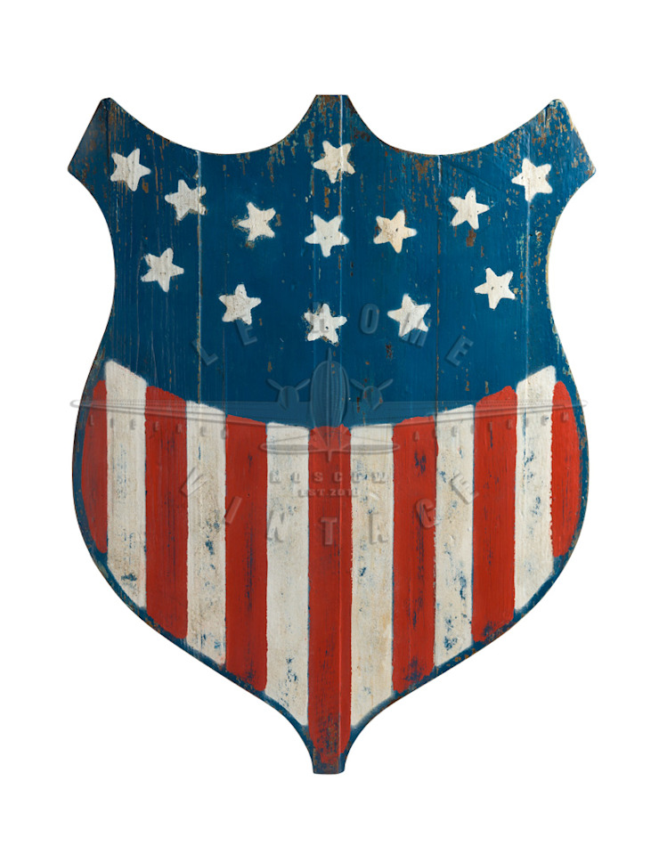 Табличка декоративная US Flag V775 от LeHome Interiors Лофт Дерево Эффект древесины