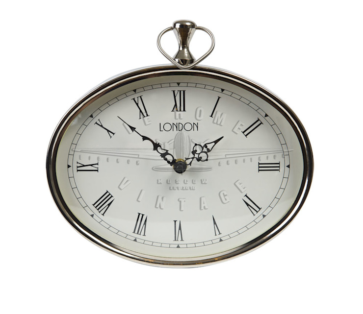 """Часы настенные овальные """"Лондон"""" V862 от LeHome Interiors Лофт Металл"""