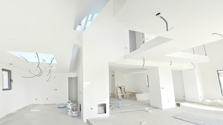 Photo chantier Couloir, entrée, escaliers modernes par [ADitude*] Architecture Moderne