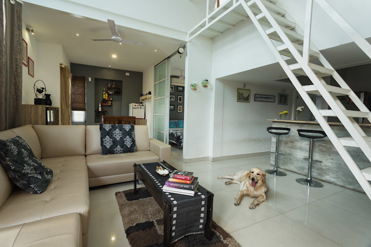 Studio Apartment Ink Architecture Modern living room