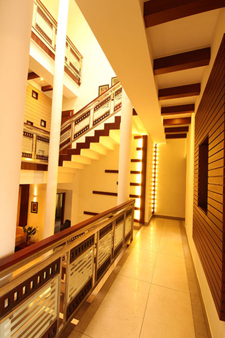 Anaz Modern corridor, hallway & stairs by stanzza Modern