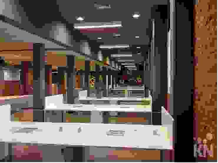 Escritório Escritórios modernos por KN Arquitetura Moderno