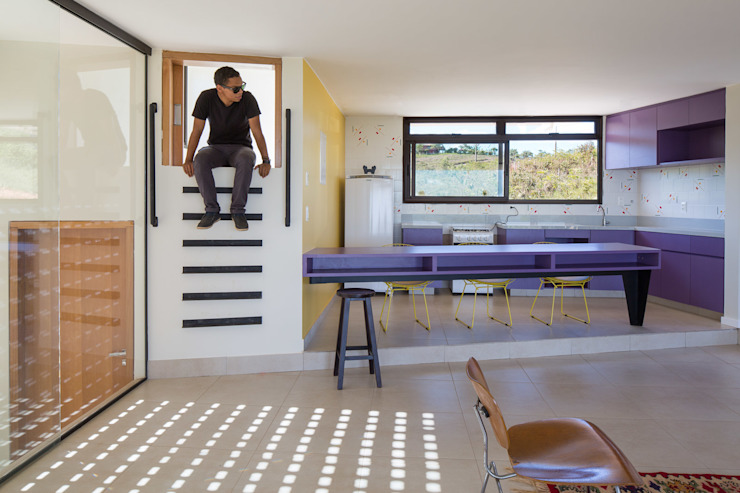 Casa Popsonics - Lab 606 Arquitetos Salas de estar modernas por Joana França Moderno