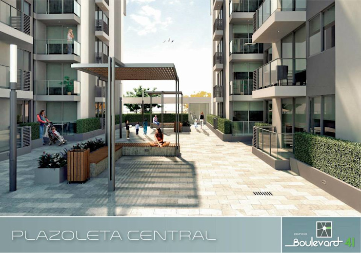 Plazoleta Central. Casas modernas de Oleb Arquitectura & Interiorismo Moderno