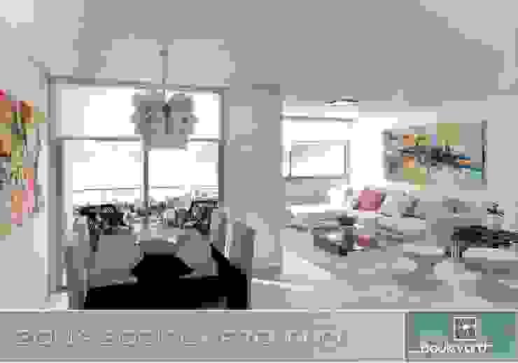 Apartamento Tipo Salas modernas de Oleb Arquitectura & Interiorismo Moderno