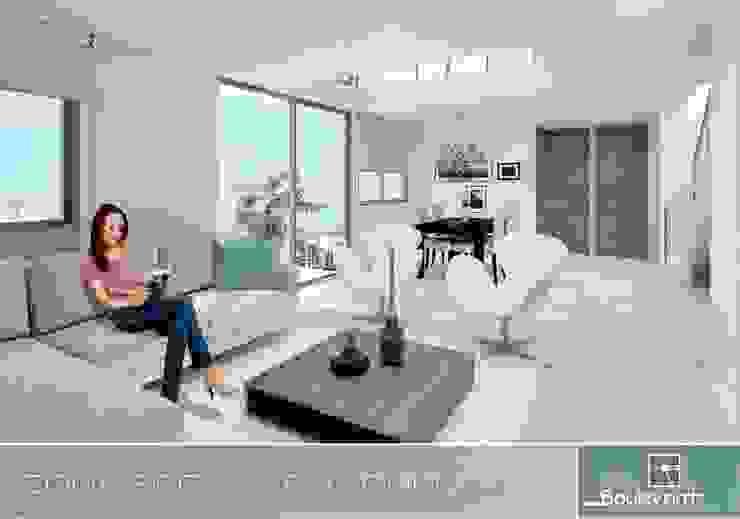 Apartamento tipo Duplex Salas modernas de Oleb Arquitectura & Interiorismo Moderno