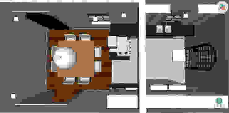 Casa Jardim paulistano projeto cozinha integrada por Bel e Tef Atelier da Reforma
