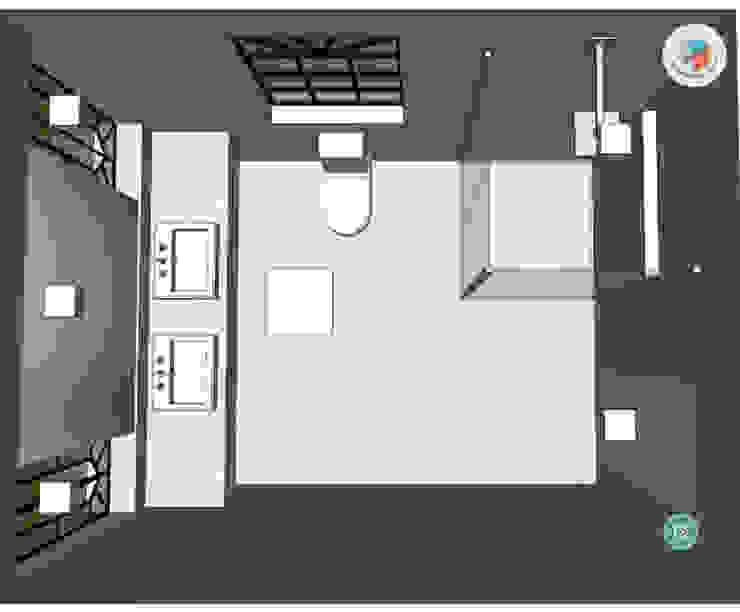 Casa Jardim paulistano projeto banho suíte casal por Bel e Tef Atelier da Reforma
