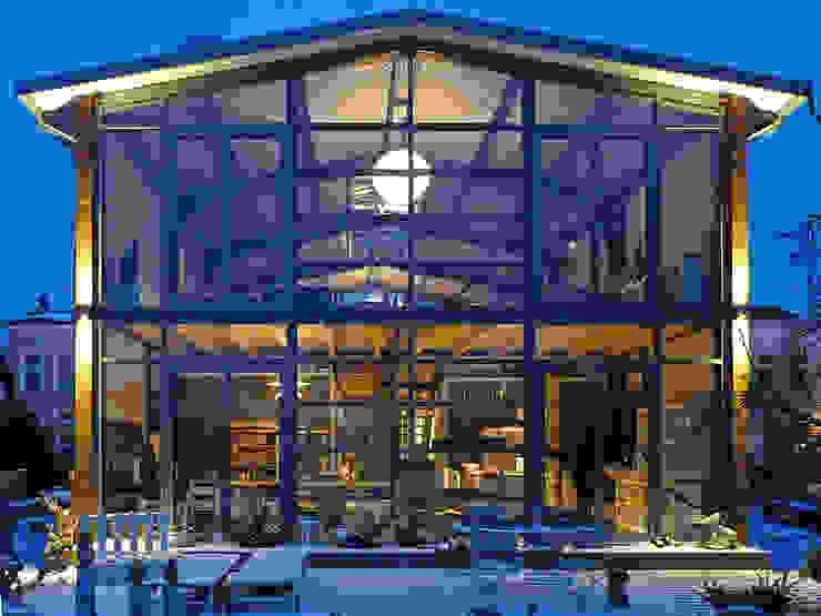منازل تنفيذ buttler architekten, صناعي زجاج