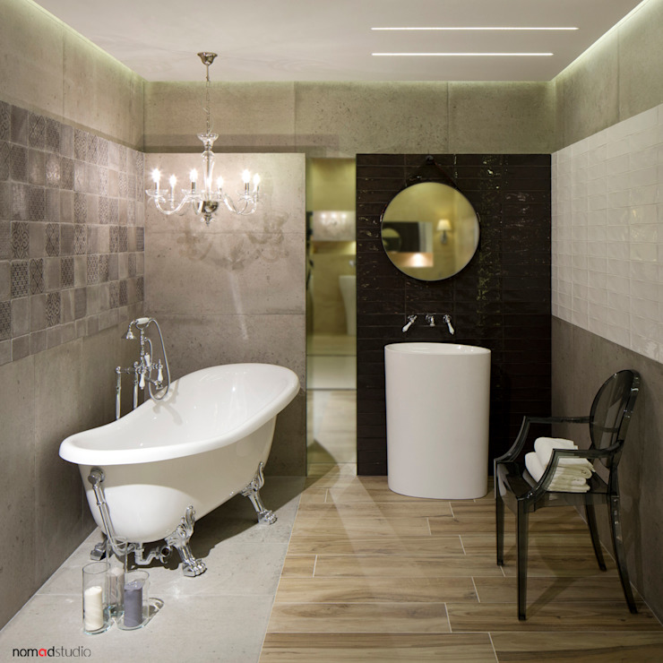 Eclectic style bathroom by nomad studio Eclectic