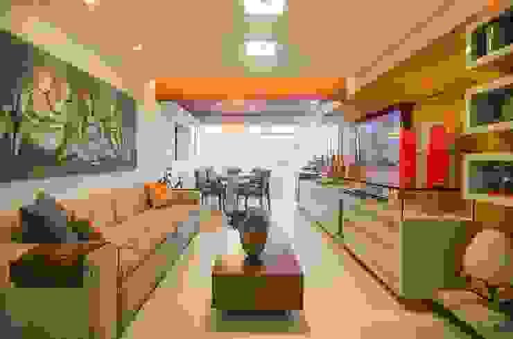 Sala do Flat Salas de estar campestres por arqMULTI Campestre