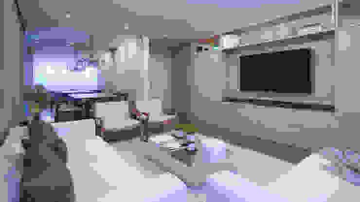 APTO DF Salas de estar modernas por AF Arquitetura Moderno
