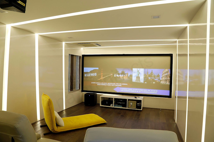 Modern Media Room by NA ARCHITECTS Modern