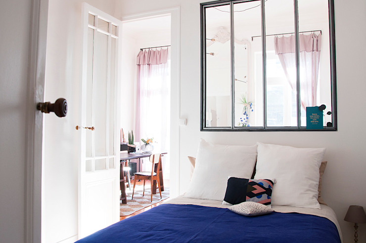 Appartement Le Cheverus Chambre scandinave par Cécilia Cretté architecte Scandinave